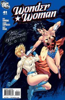 Wonder Woman vs Power Girl Pin Up Hazlewood Full Page Splash