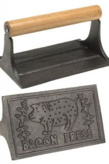 Norpro Cast Iron Bacon Grill Press New