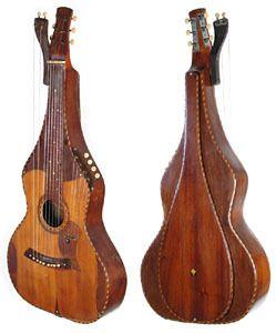 Knutsen Hawaiian Harp Steel Guitar: 2nd Fanciest Ever Found!