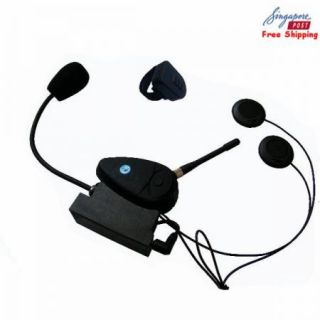 New Motorcycle Helmet Headsets Intercom Bluetooth Handsfree Kit Free