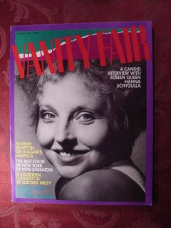 Van Fair January 1984 Hanna Schygulla Mariel Hemingway
