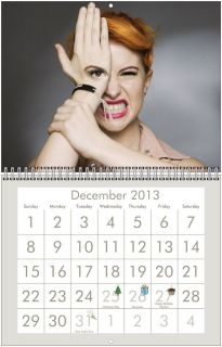 Hayley Williams from Paramore 2013 Wall Calendar