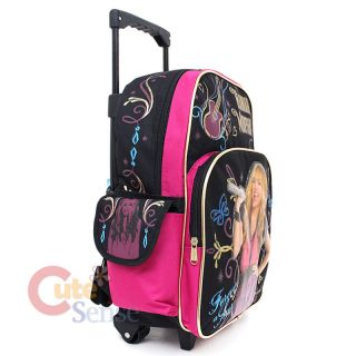 Hannah Montana School Roller Backpack Trolley Rolling Luggage Bag 16