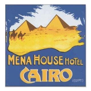 Mena House Hotel Cairo Egypt, Vintage Poster
