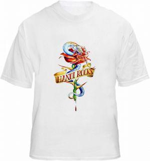 Hanoi Rocks T Shirt Snake Rose Tattoo Style Tee