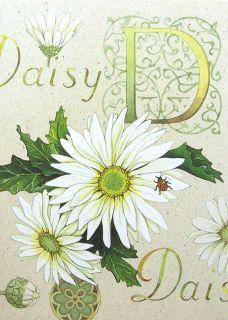 White Daisy Flower Ladybug Happy Birthday Greeting Card Current USA