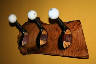 100 Year Old Oak Golf Club Head Ball Coat Hat Rack Woods