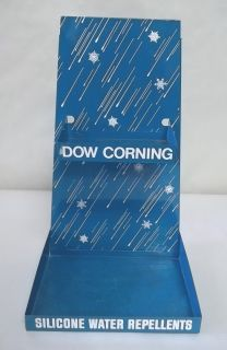 DOW CORNING SILICONE WATER REPELLENTS Metal Tin Store Display Rack