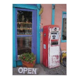 Vintage gas pump, Madrid, New Mexico. Antique gas station.
