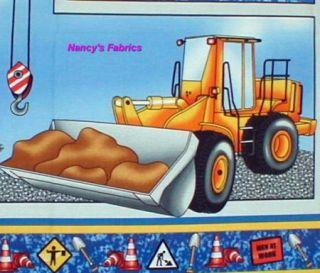 hard hats construction vehicles fabric panel 3450