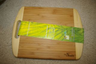 True Bamboo Wood Cutting Board w Handle 9 x 12 New Gift Idea Kitchen