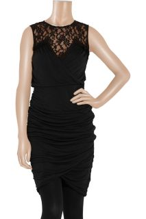 ALICE by Temperley Diosa lace paneled jersey dress