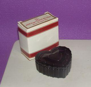 Avon Vintage Cape Cod Heart Shaped Trinket Box