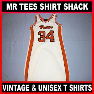 Houston #34 Harlem Throw Backs White NBA Basketball Jersey Medium