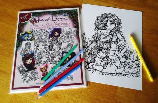 Coloring Book Pages Fairies Mermaids Vampires Hannah Lynn Art Vol 3