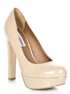 MADDEN BEASST Platform High Heel Stiletto Pump beige sz Blush Patent