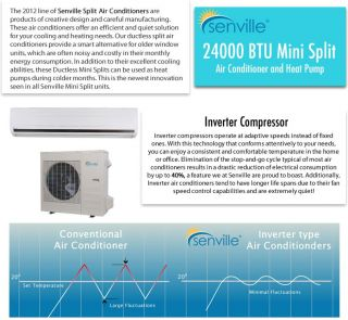 Senville 24000 BTU Heat Pump and Split Ductless Air Conditioner   18