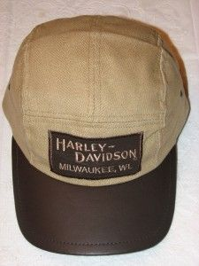 Harley Davidson Vintage Leather RR Hat Cap New