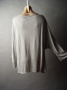 Sale Ombre Feather Printed Rhinestone Embellished Batwing Slv Knit Top