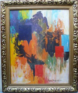 Hans Hofmann 20th C School Lovely Large Signed Abstract Oil on Panel