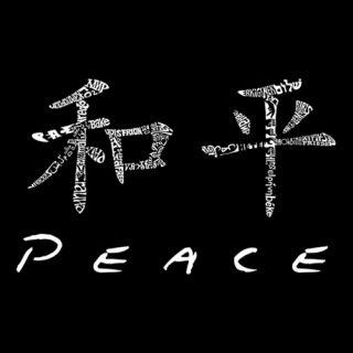 Womens T Shirt Chinese Peace Symbol Word Art Free SHIP