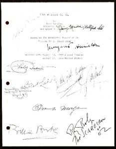The Wizard of oz Script Signed rpt Judy Garland Ray Bolger Burt Lahr