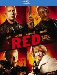Red Blu ray Disc Movie Bruce Willis Morgan Freeman S1506 4