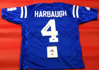 Jim Harbaugh Autographed Indianapolis Colts Jersey AAA San Francisco