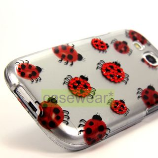 Luxmo Lady Bugs Gem Diamond Bling Hard Case Cover for Samsung Galaxy s