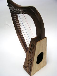New Birch Rosewood Pro Quality Irish Celtic Roosebeck Baby Harp
