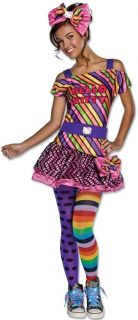 New Tween Teen Girls Hello Kitty Nu Rave Costume Size 2 6