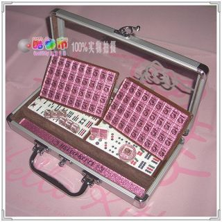 New Sanrio Hello Kitty Mini Size Mahjong Game Set Pink
