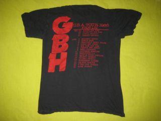 1986 Tour Vintage T Shirt 80s Hardcore Punk GBH Tee