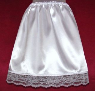 Ll Ice White Michiganwildflower Short Satin Half Slip L XL