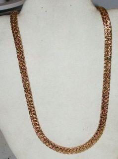 Mens 14k Yellow Gold Harring Bone Necklace 62 9 Grams