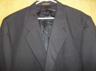 Navy Blue PinStripe HARDWICK Jacket Coat Pant Suit sz 46L