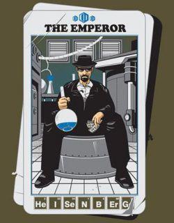 New Breaking Bad The Emperor Heisenberg Blue Meth TeeFury Womens L