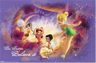 Disney Poster Fairies Pixie Dust Tinker Bell Beck