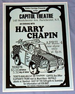 harry chapin short stories tour portchester ny 1974