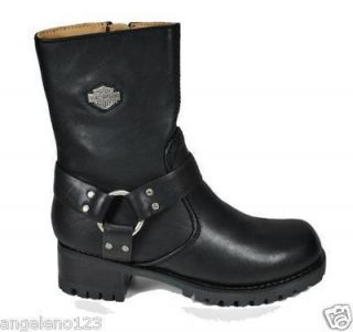 Harley Davidson Shoes Ashby Black Leather Fashion Style Boots Women