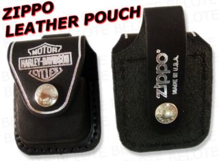 Zippo Harley Davidson Leather Pouch HDPBK Accessories