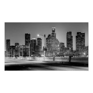 Black and white version of my popular HDR of the downtown Los Angeles
