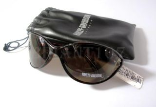 NWT Auth.Harley Davidson Sunglasses HDS484 Amber + Pouch