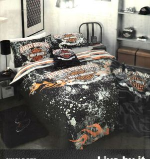 Harley Davidson motorbike Ultimate Ride Double Quilt DOONA Cover Set