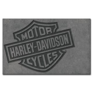 Harley Davidson Motorcycle Bar Shield Large Area Rug 5 x 8 Hdl 19502