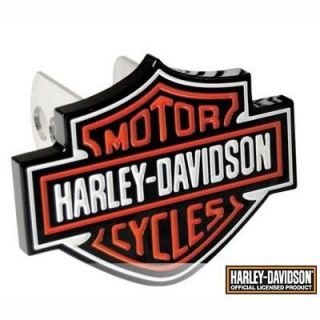 Hitch Cover Harley Davidson® Bar and Shield Logo Metal Painted Shield