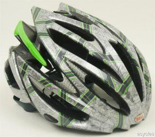 Bell Volt Silver Green Rocker Bicycle Helmet New