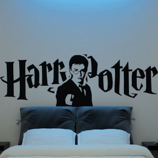 Harry Potter Head Face Wand Silhouette Wall Sticker Vinyl Decal Logo