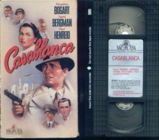 CASABLANCA HUMPHREY BOGART INGRID BERGMAN PAUL HENREID / USED VHS MGM