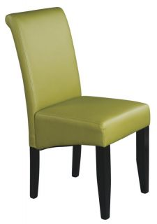 KIWI GREEN Eco Leather Parsons Armless Dining Room Table Desk Chair